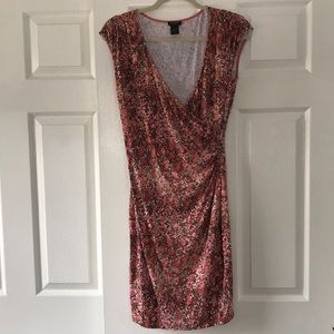 Ann Taylor Faux Wrap Speckled Dress Size Small
